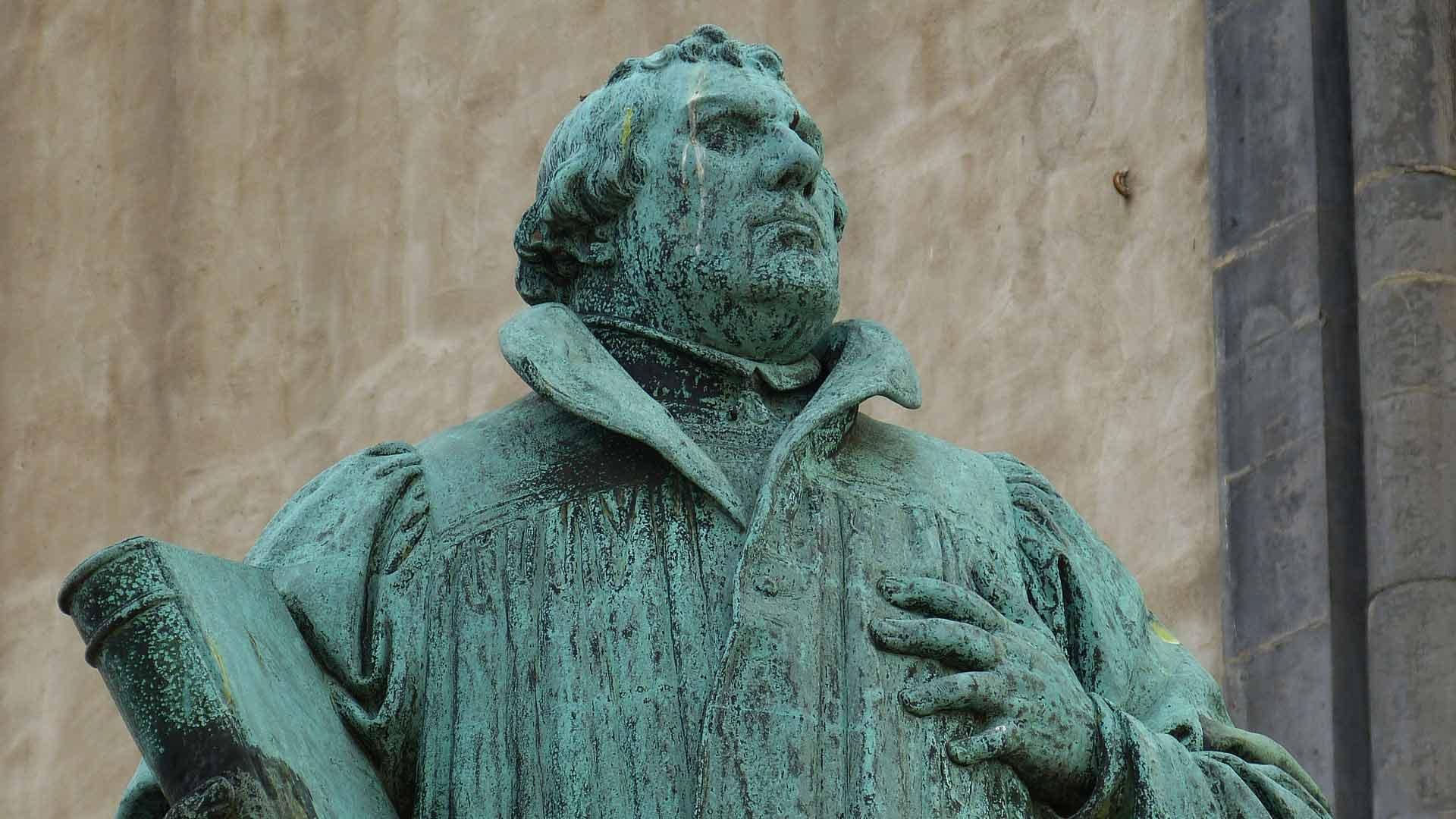 Maarten Luther kom je overal tegen in Saksen-Anhalt.