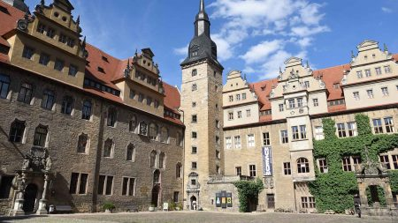 Het fraaie kasteel van Merseburg.