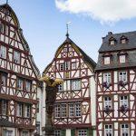Veel vakwerkhuizen in Bernkastel-Kues.