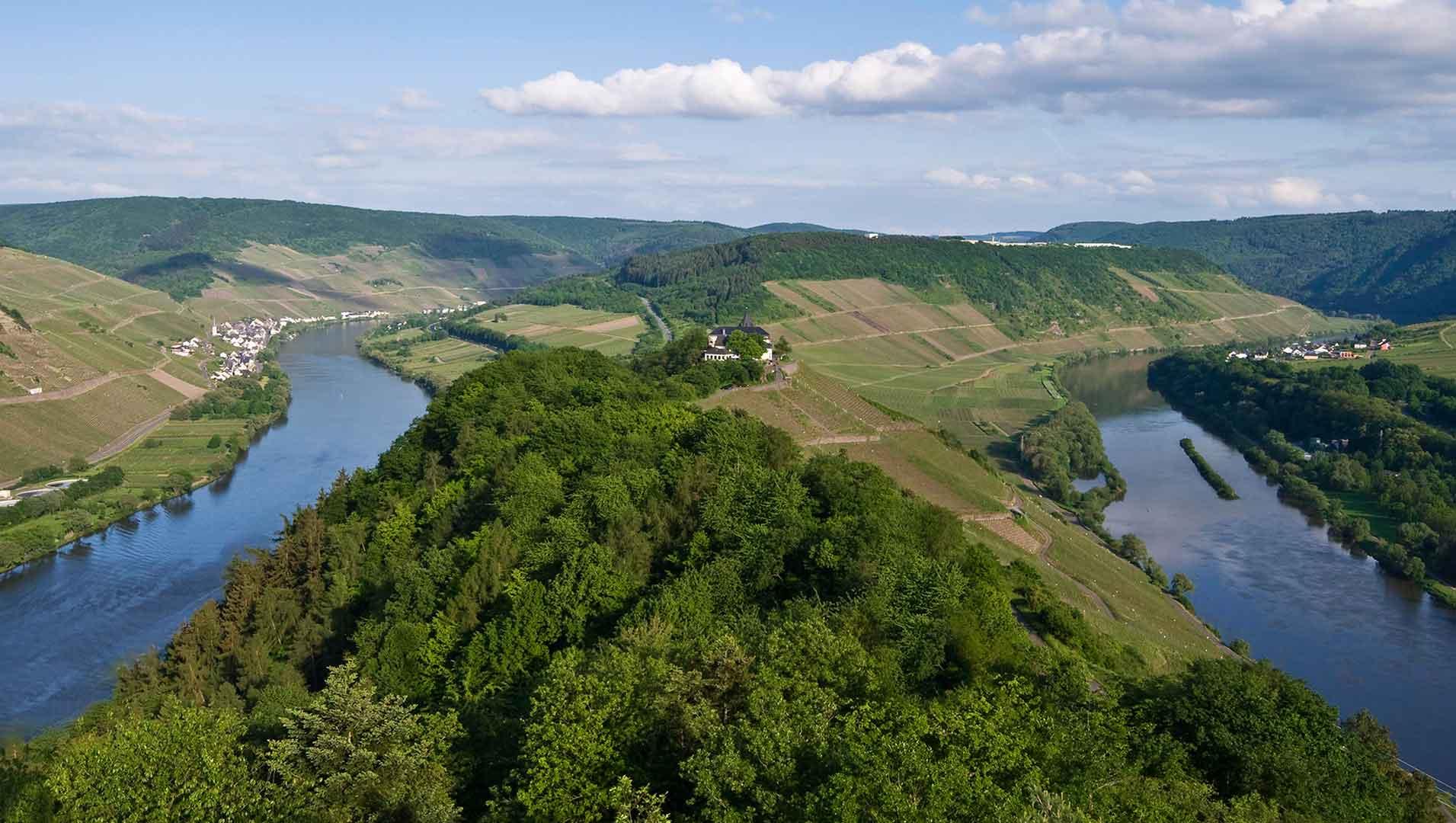 De lus in de Moezel vanaf het uitkijkpunt Prinzenkopf.