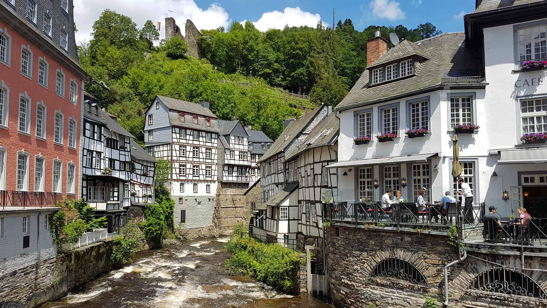 Monschau in de Eifel is bijzonder fotogeniek.
