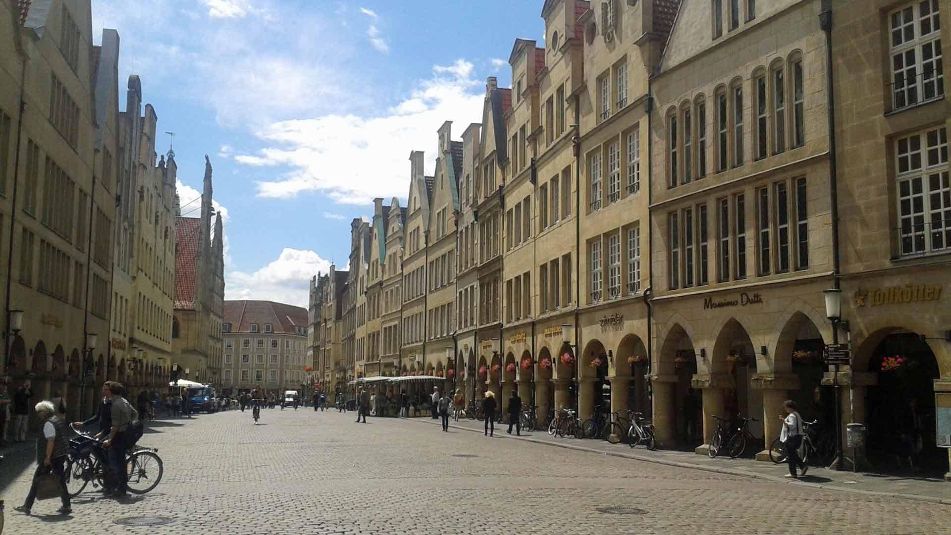 De prachtige Prinzipalmarkt van Münster. © Münsterland e.V.