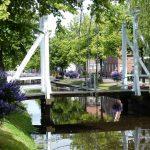 Kanaal in het stadje Papenburg aan de Ems.