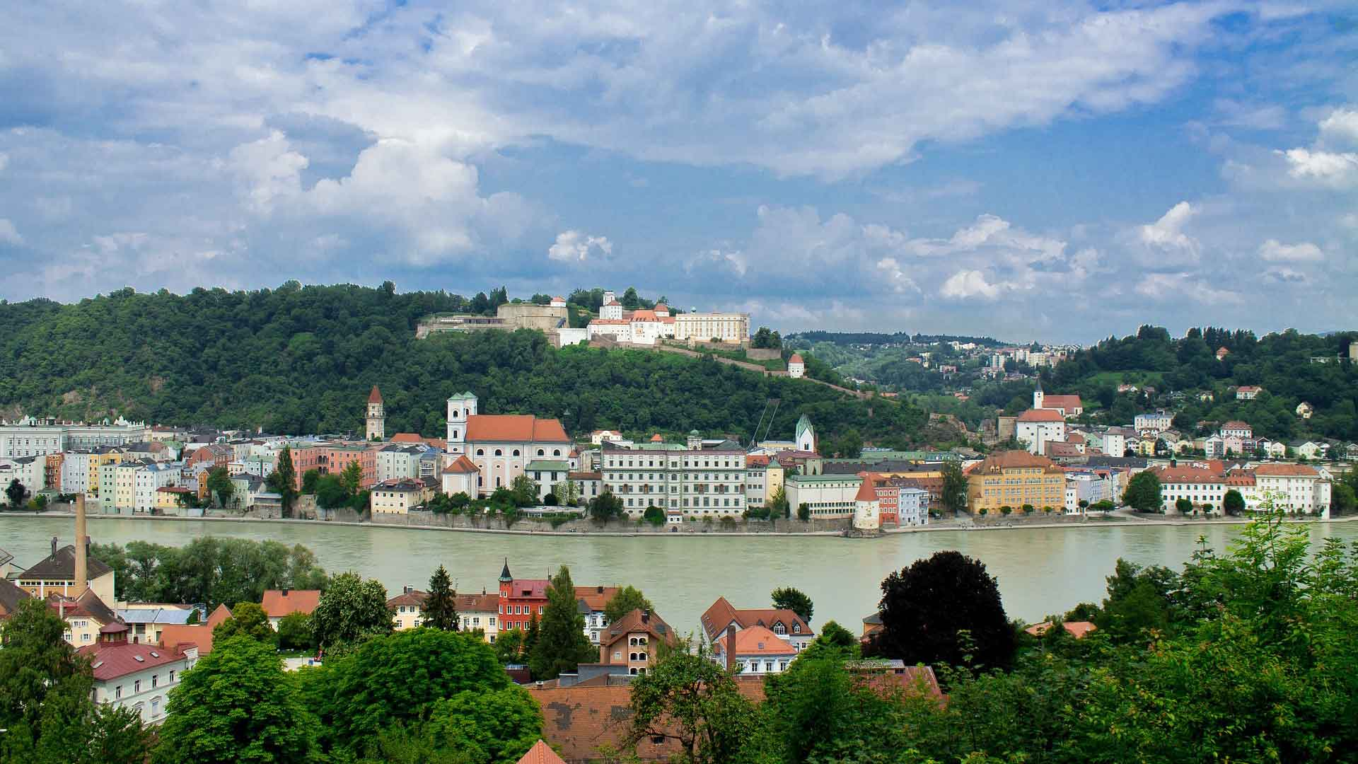 De Donau bij Passau
