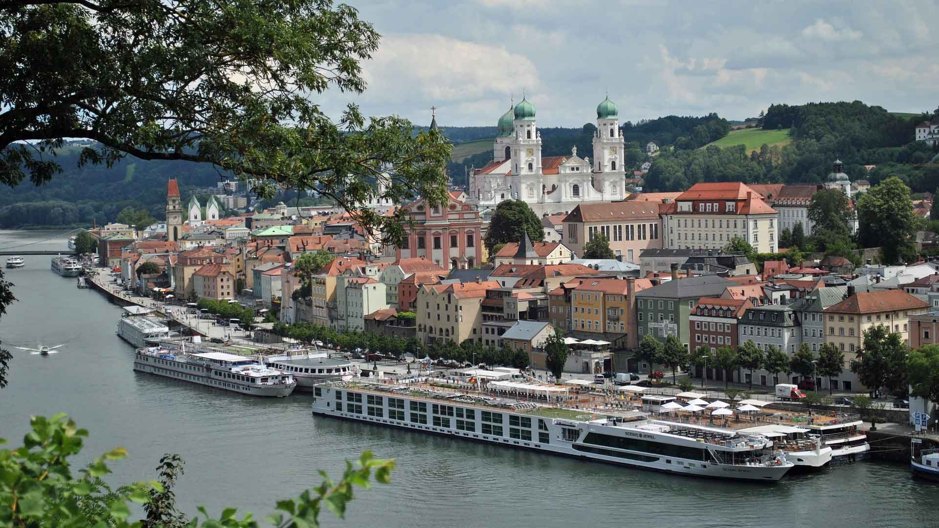Maak een Passau een boottochtje over de 3 rivieren: Donau, Inn en Iltz