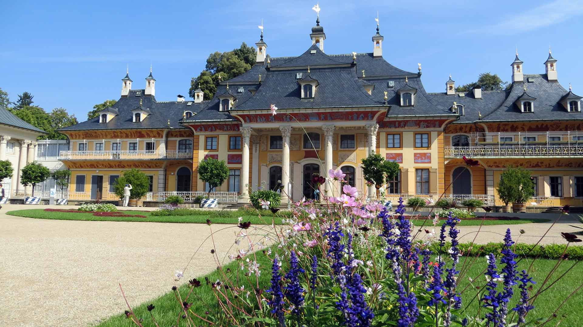 Schloss Pillnitz was een van de pronkpaleizen van August de Sterke.