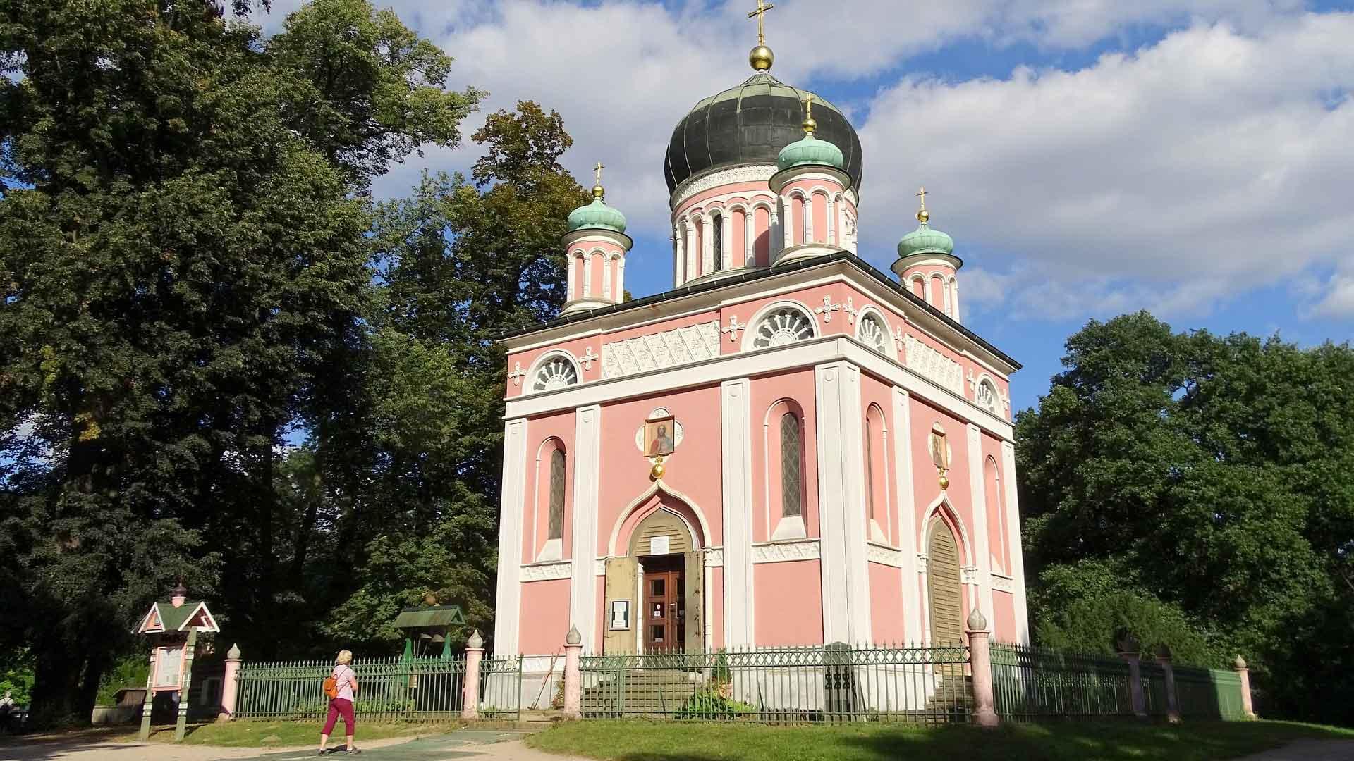 De Russische wijk Alexandrowka in Potsdam.