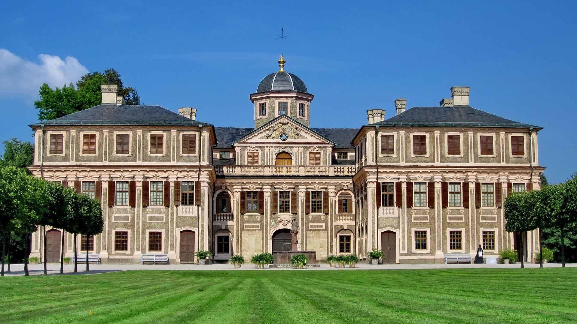 De barokke residentie in Rastatt.