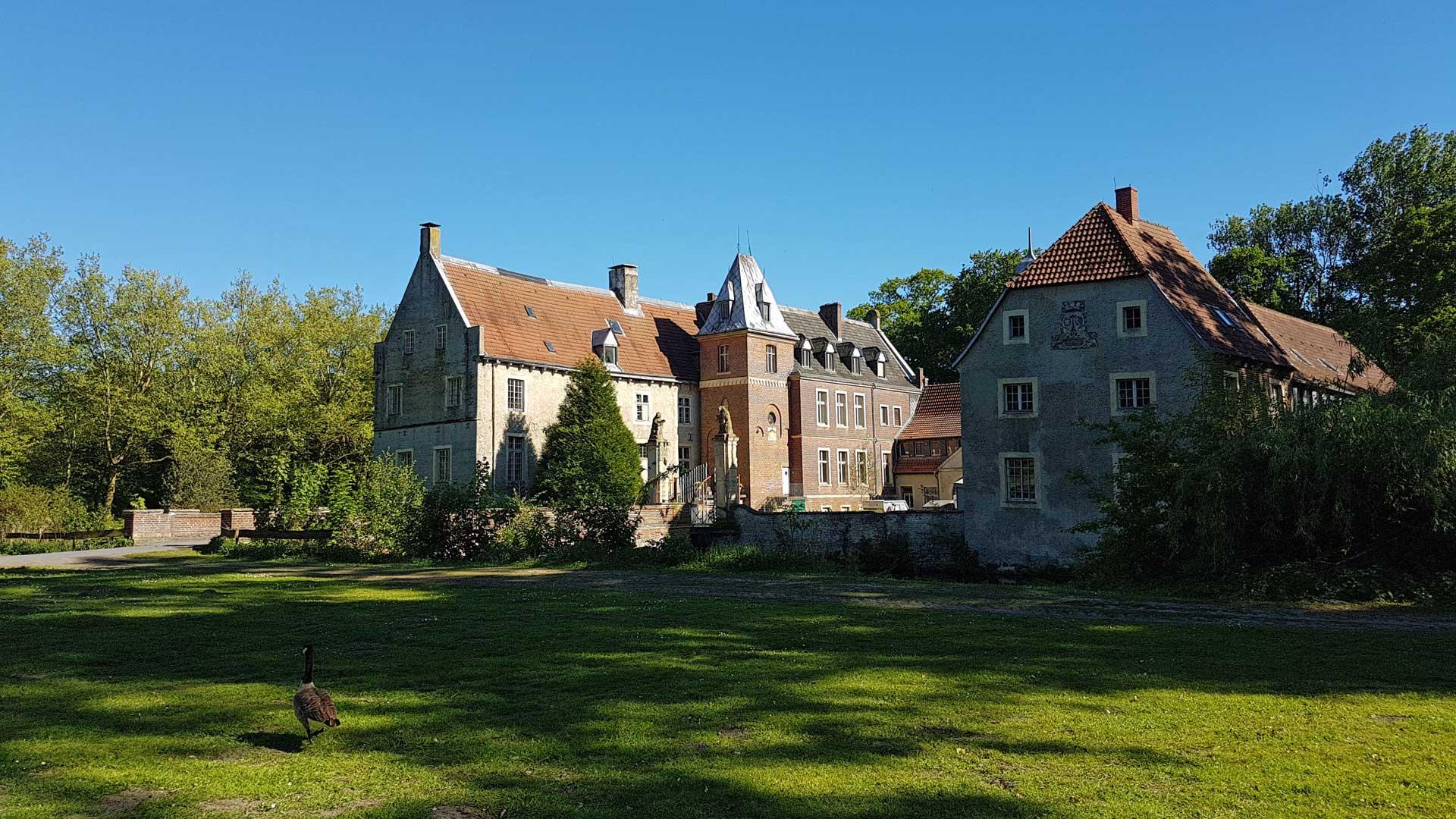 Gewoon ergens onderweg in het Münsterland: Schloss Senden.