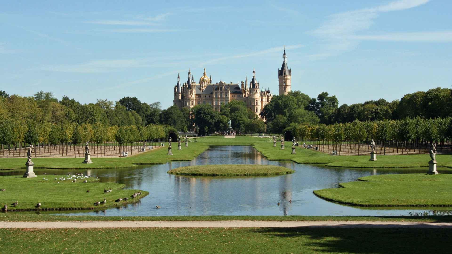 Het slot is het symbool van Schwerin.