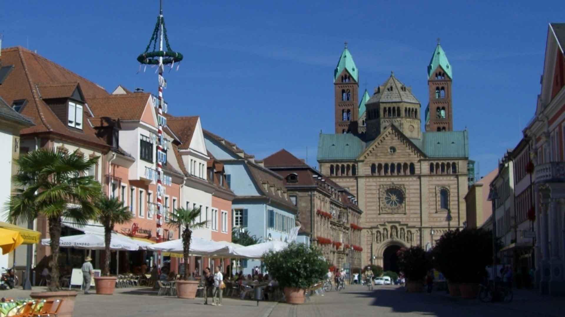 Het gezellige centrum van Speyer.