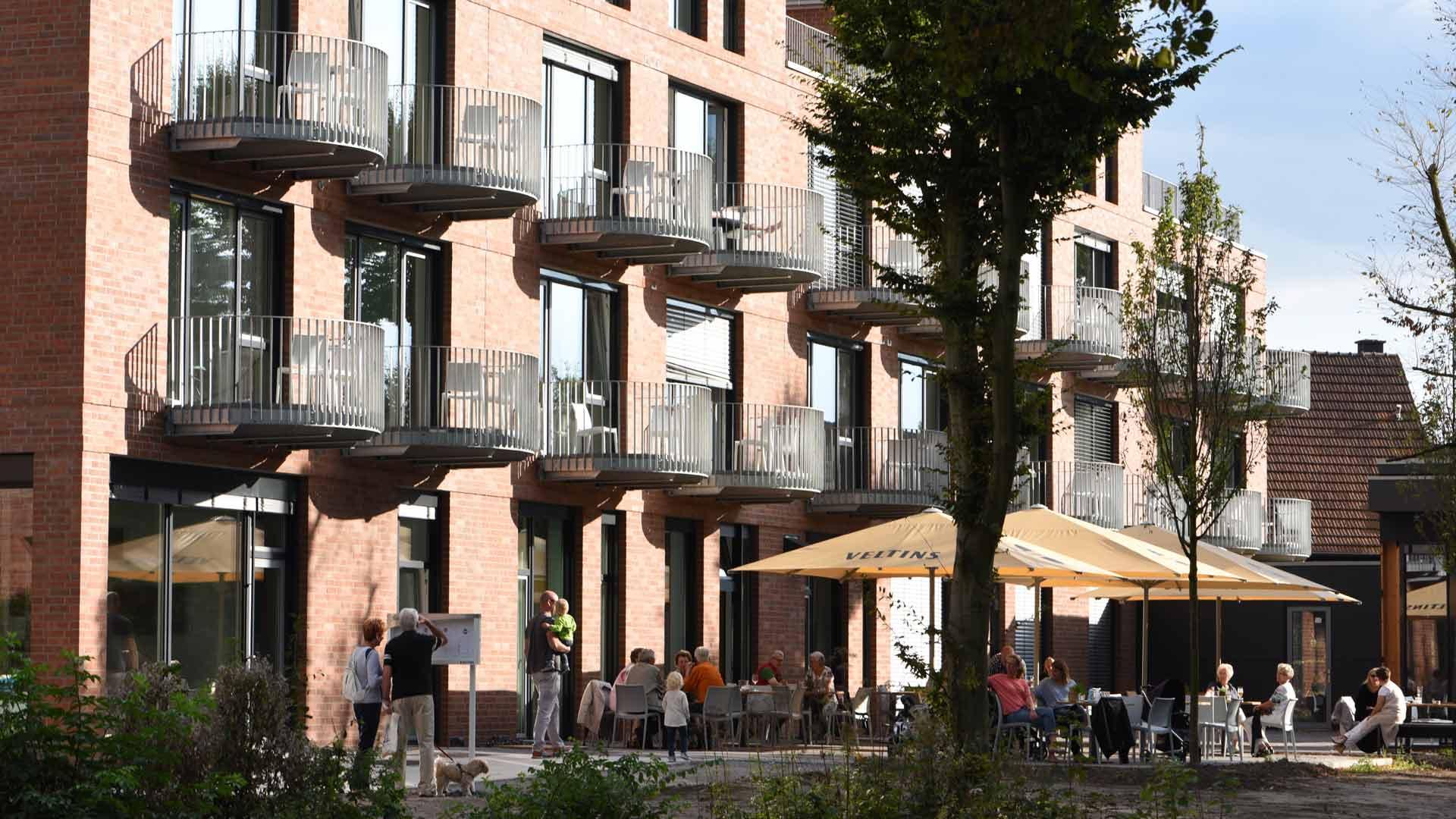 Hotel Steverbett in Lüdinghausen - het terras aan de achterkant.