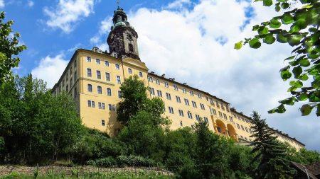 De barokke Heidecksburg van Rudolstadt in Thüringen.