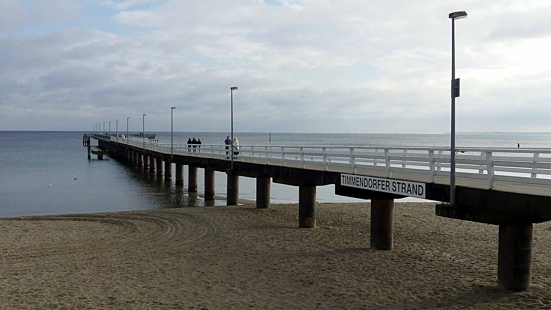 Die Pier bij het Timmendorfer Strand.
