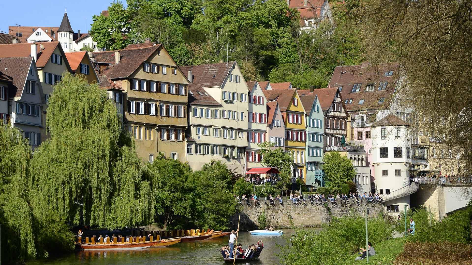 Lekker relaxen aan de Neckar in Tübingen