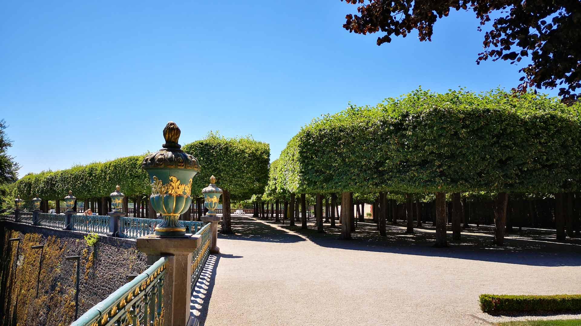 Het kasteel van Weilburg heeft een prachtig park.