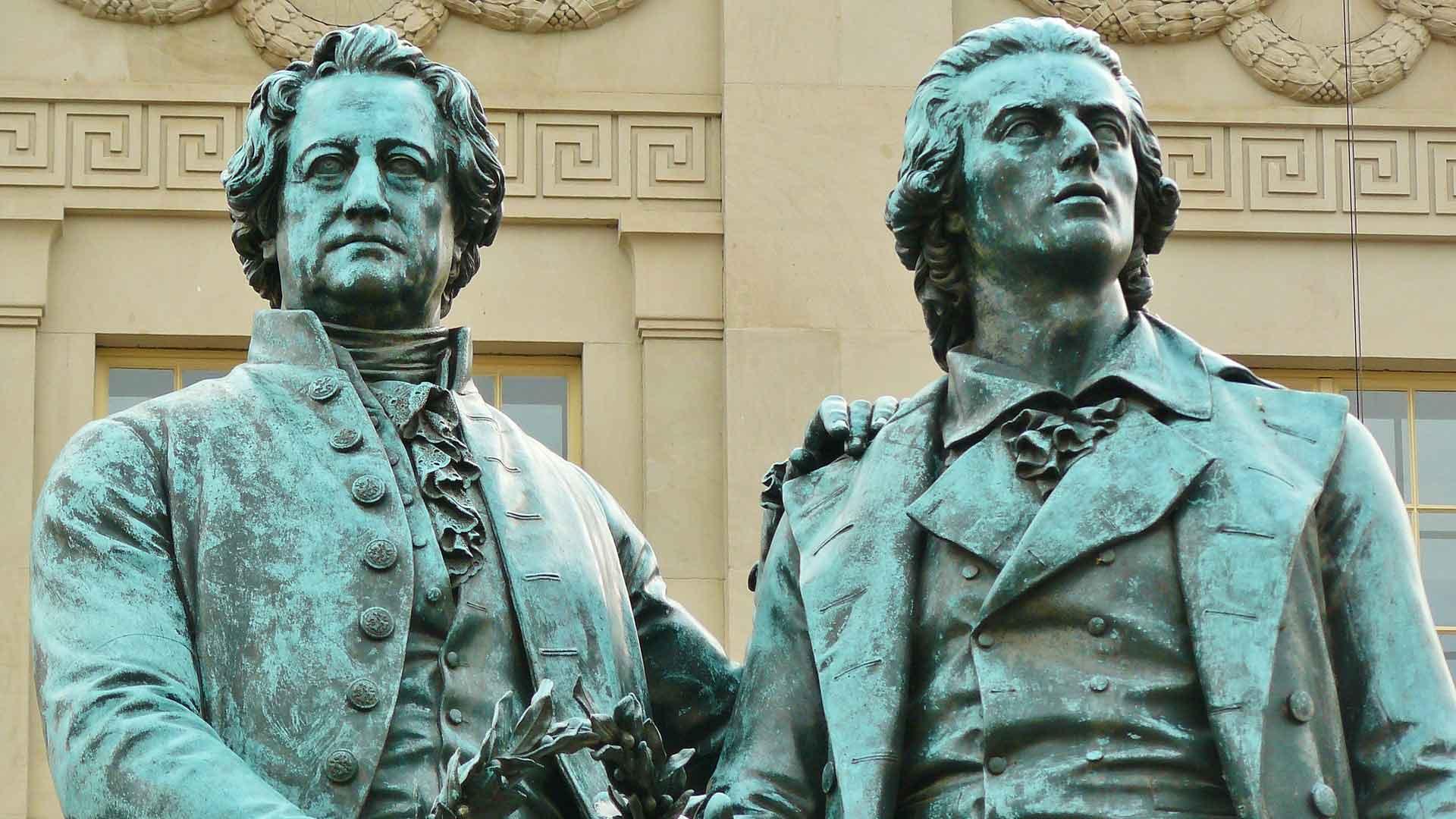 Goethe, Schiller en Weimar worden vaak in een adem genoemd.