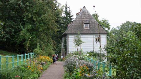 Fietsen in Thüringen en Saksen-Anhalt - het tuinhuis van Goethe in Weimar