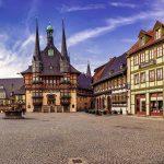 Het prachtige stadhuis van Wernigerode
