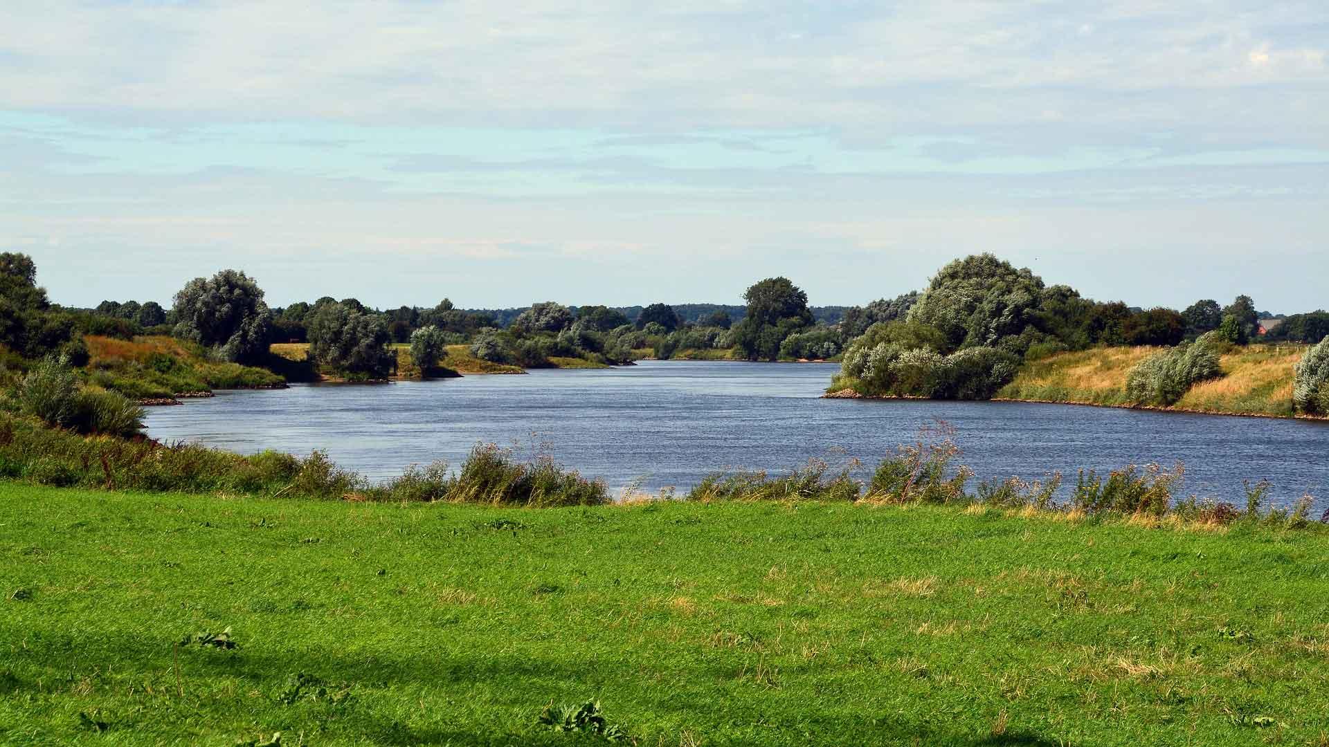 De Weser is vaak gewoon mooi.