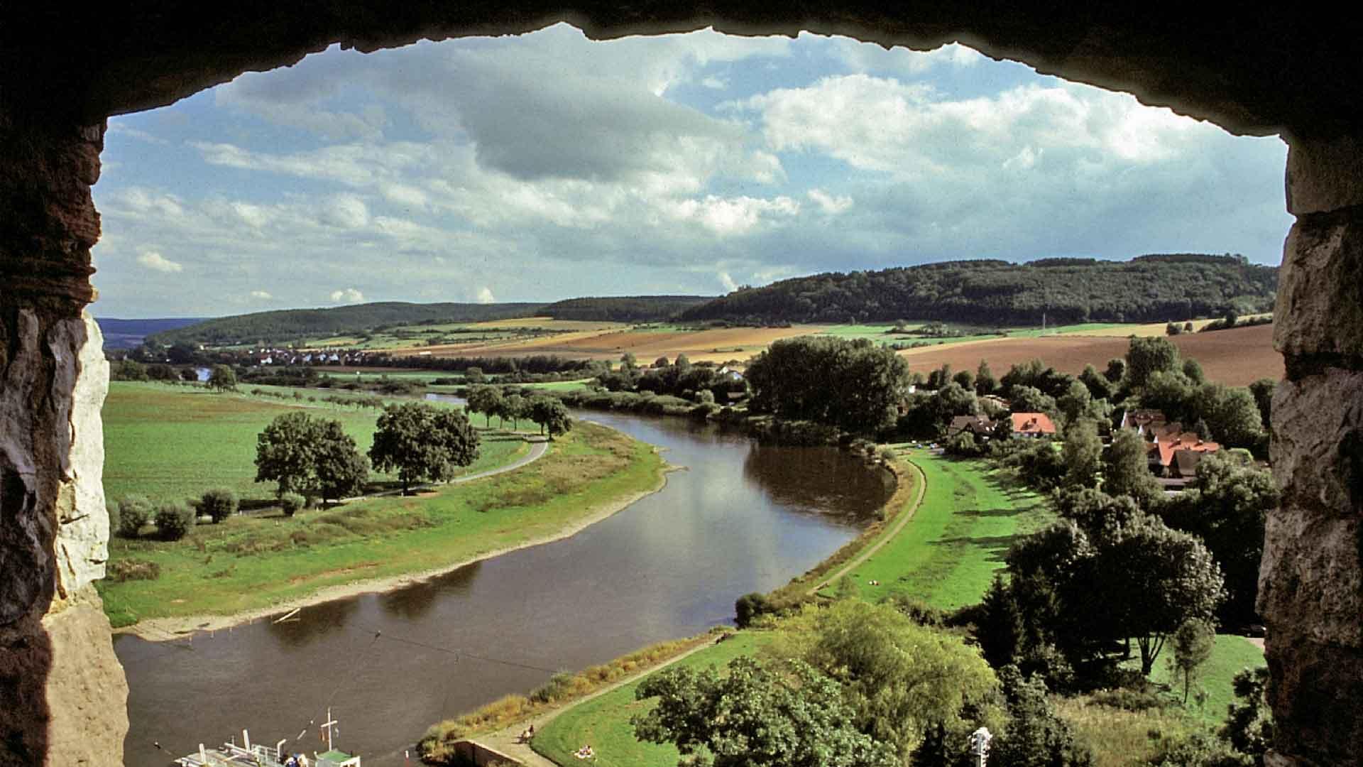 Uitzicht over de Weser.