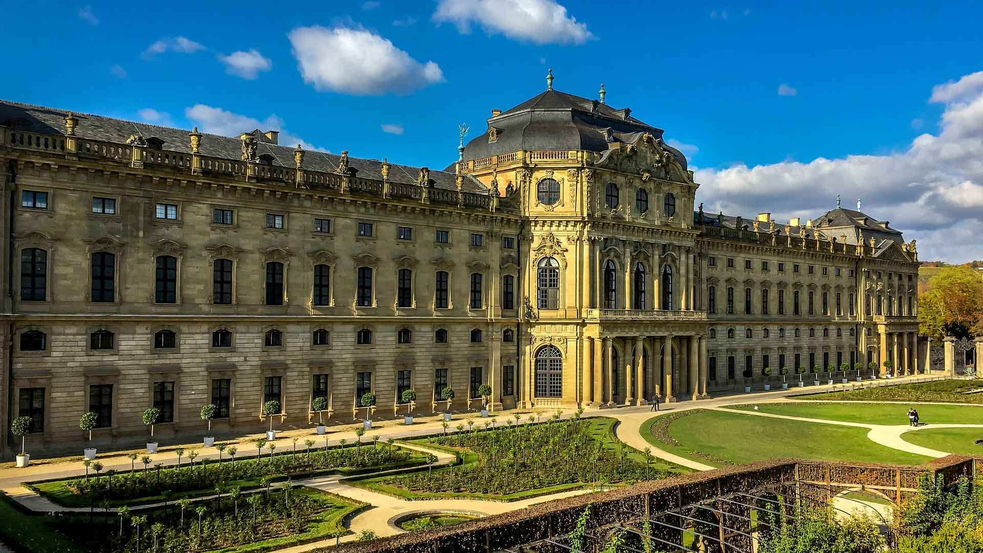 De residentie van Wurzburg is UNESCO werelderfgoed.